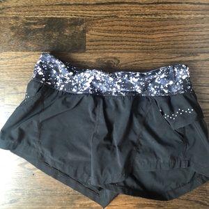 Zella Black running shorts